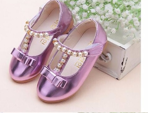 2017 Hot children shoes girls shoes 2016 brand summer autumn beading fashion princess sandals kid designer single sandals shoes