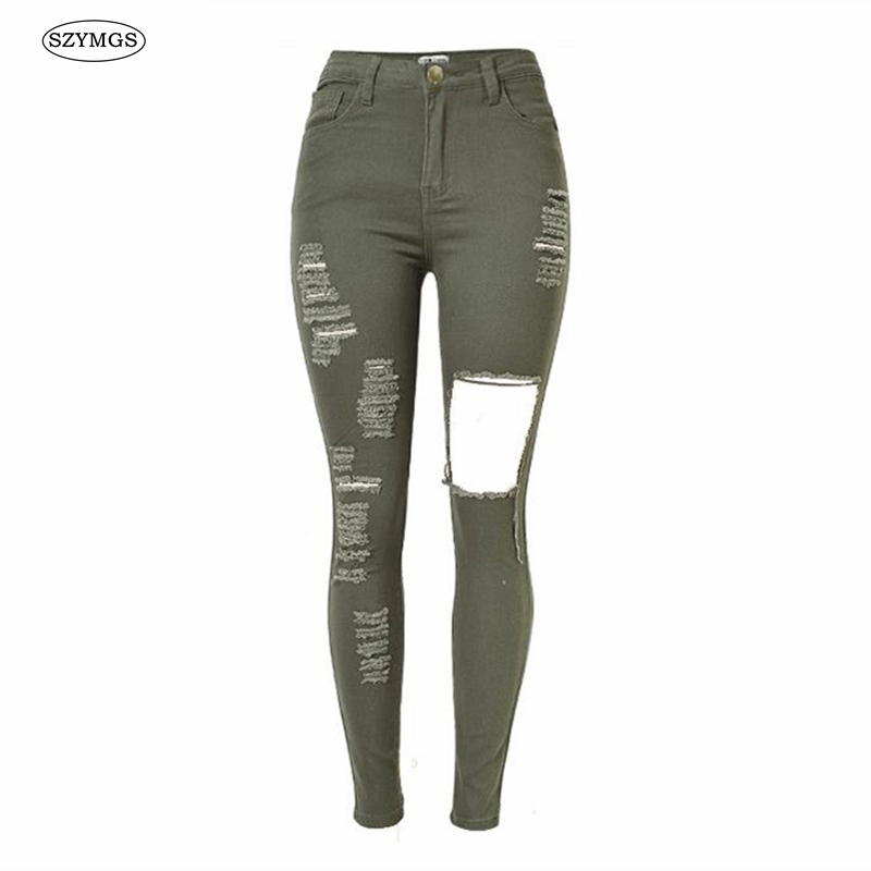 Green Skinny Jeans Women Promotion-Shop for Promotional Green ...