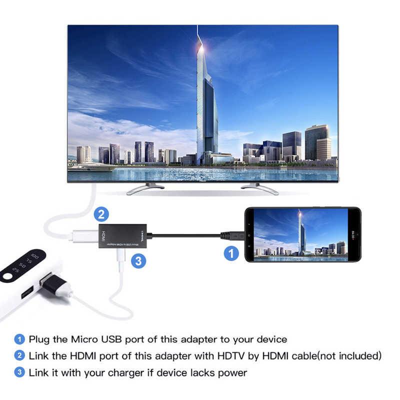 Тип C и микро USB к HDMI 1080P HD аудио-видео кабель для HD ТВ конвертеры адаптеры для ТВ ПК ноутбук телефон планшет