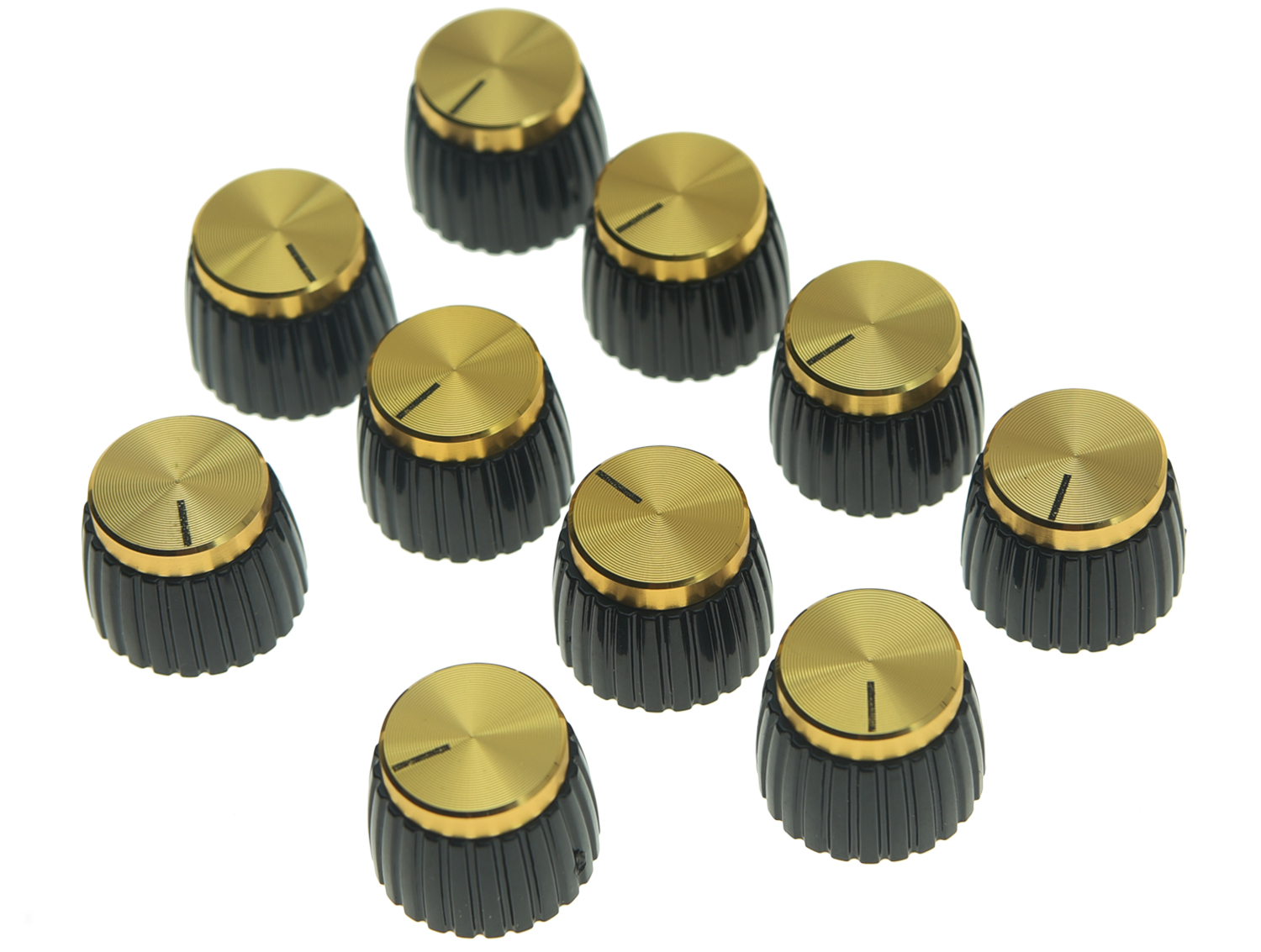 KAISH Pack of 10/20/50 pcs Guitar Amplifier Knobs Gold Cap Push On Knob fit Marshall AMP