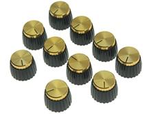 KAISH paquete de 10/20/50 piezas guitarra amplificador perillas tapa de oro empuje en Knob encaja Marshall AMP