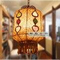 2016 Direct Selling Real Red Lamparas Luminaire Free Shipping Bohemia Pendant Light Bar Lamp Restaurant Bedroom Aisle Lights