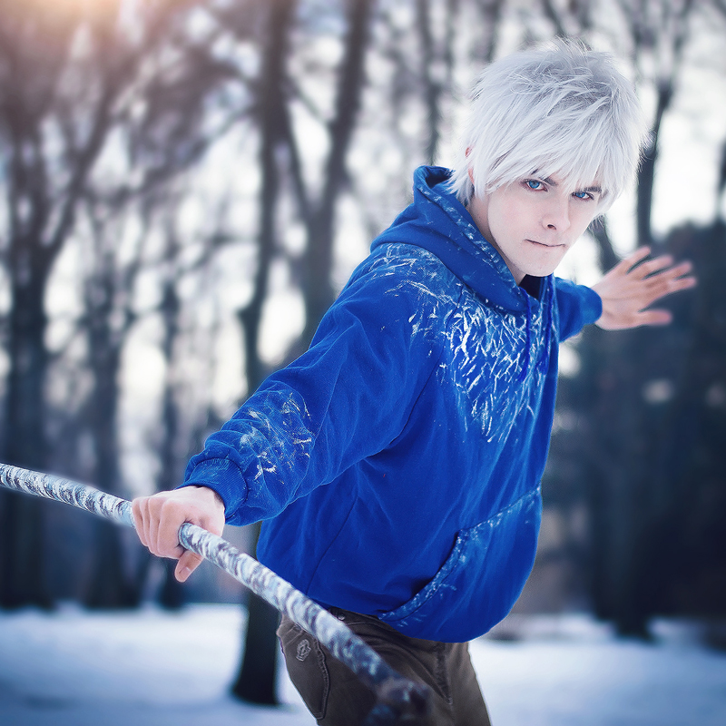 Extrêmement Rise of the Guardians Jack Frost Cosplay Wigs Short White  KD09