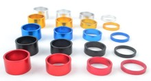 4Pcs 5/10/15/20mm a set Aluminum Alloy Headset Stem Spacer MTB 28.6mm Fork Washer Cap For Road Bike Cycling