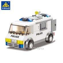 Kazi 6730 Police Series Blocks Custody Van 135pcs Enlighted Building Sets Model Bricks Toys