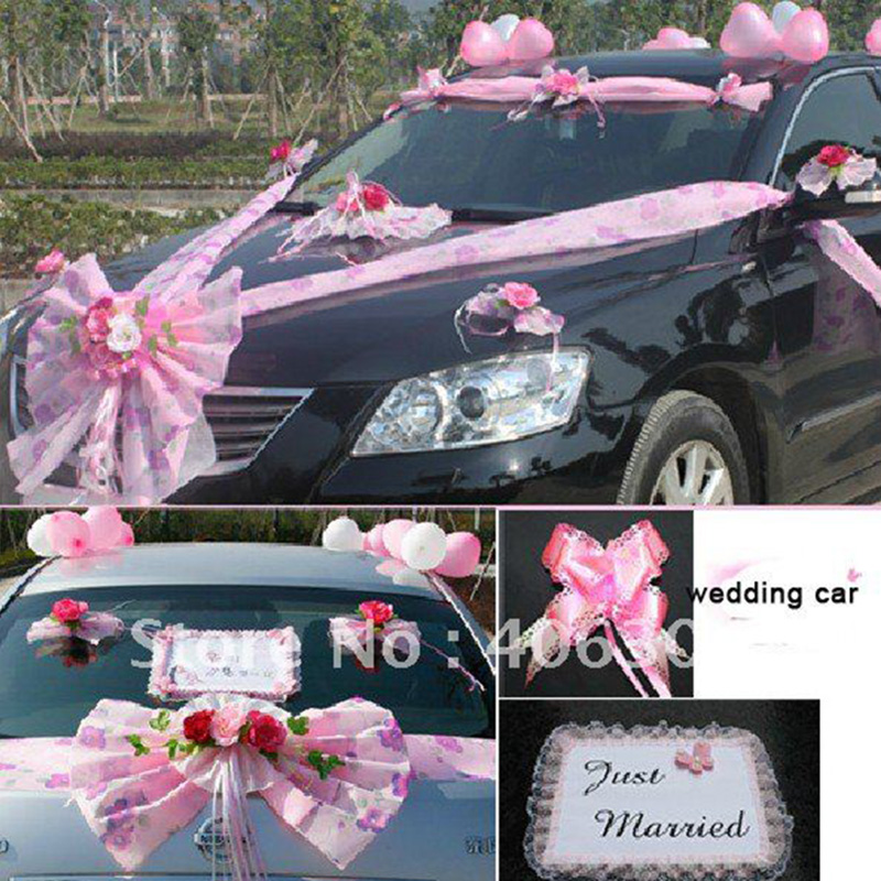 Wonderlijk Kunstbloemen 1 set/partij bruiloft auto decoratie bruiloft huis HF-88