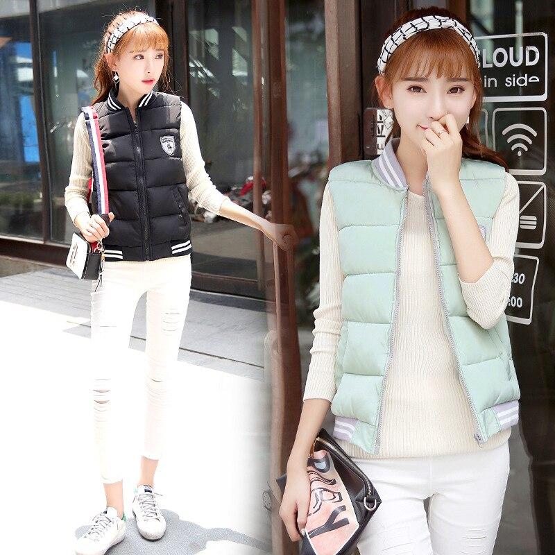 Womens Winter Jackets And Coats Hot Sale Limited Cotton Solid Zipper 2016 Korean Jacket Vest Dress
