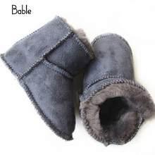 d38eb0593d Prewalkers Schnee Stiefel Erste Wanderer Durable Warme Weiche Sohle 1 para  Neugeborenen Kleinkind Winter Jungen Mädchen