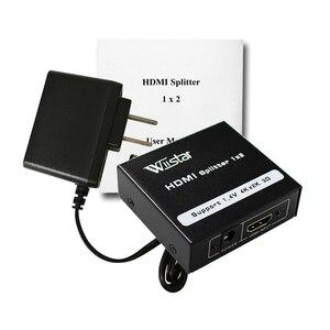 Image 5 - Rozdzielacz HDMI 1X2 HDMI 1 wejście 2 wyjście pełne HD1080p z zasilaczem do Audio HDTV 1080P Vedio DVD