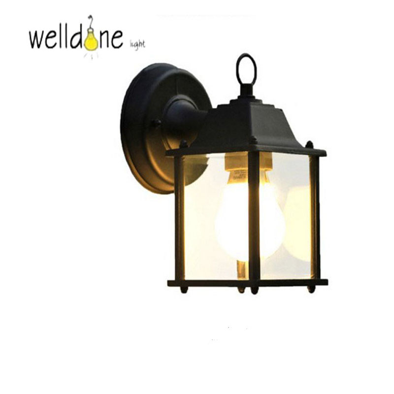 Waterproof lamp outdoor wall lamp rustic wall lights outdoor balcony fashion speaker wall lamp aluminum+arcylic 5W E27 LED Bulb e27 5w 5 led slots aluminum bulb shell