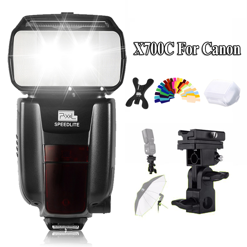 PIXEL X700C Wireless GN60 TTL High Speed Master Flash Speedlite for Canon 600D 70DDSLR Cameras VS PIXEL X800C X800C PRO YN560III fcl 935 electric strikes lock holding force 1800kg wide designed only for frameless glass doors power on to lock