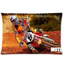 LUQI Ryan Dungey AMA SUPERCROSS Zippered Pillowcase Pillow Cover 20x30 inches Birthday Gift For Kids Lover(China)