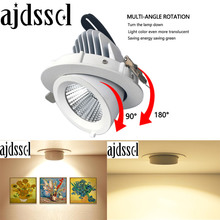 LED Dimmable  Trunk Downlight COB Ceiling 10W 15W 30W AC110V/220V85-265V Adjustable recessed led Indoor Light cob led downlight цена и фото