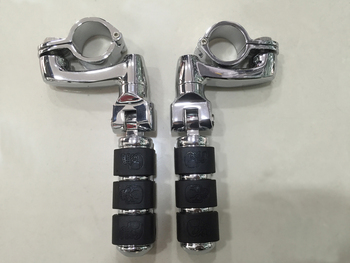 """free shipping New Long Highway Foot Pegs For Harley Electra Road King Street Glide 1-1/4"""" Bars"""