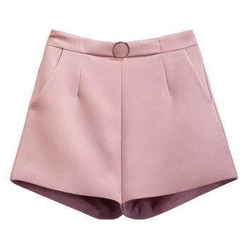 e29989c20c Verano de 2019 ancho de la pierna pantalones cortos de moda de las mujeres  casuales pantalones cortos mujeres Sexy pantalones cortos de cintura alta  de ...