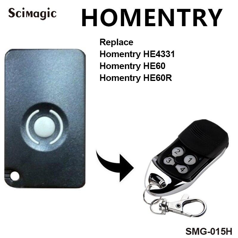 HOMENTRY Garage Door Remote Control HE4331 HE60 HE60R Compatible Remote Control HOMENTRY Remote Controller Replacement