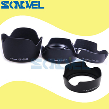 Kit de capa para lente de flor, EW 63C + EW 60C ii + ET 60 ii + ES 62 ii + EF S ii para canon 18 55mm EF S 55 250mm f/4 5.6 é/ef 50mm f/1.8 ii lentes com lente