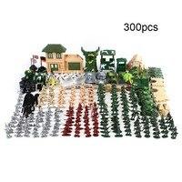 300 Pcs Military Plastic Model Toy Soldier Army Men Combat Model Action Figures Toy Set For Children