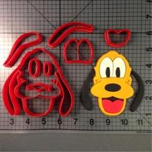Custom Made 3D Printed Cartoon TV Charactor Dog Goofy Cookie Cutters set