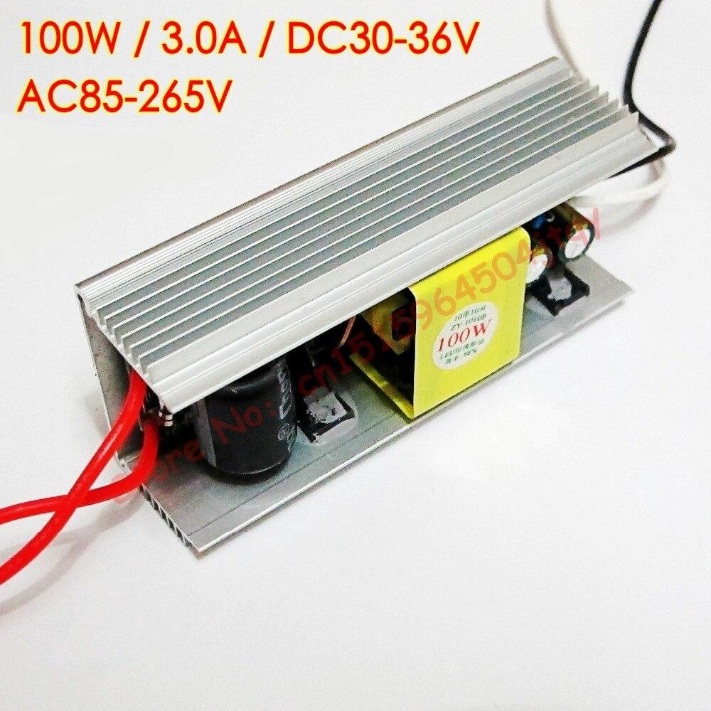 100W DC 30V - 36V 3000mA LED Driver for 100w led chip diy AC 85V-265V 110V 220V Constant current LED chip driver