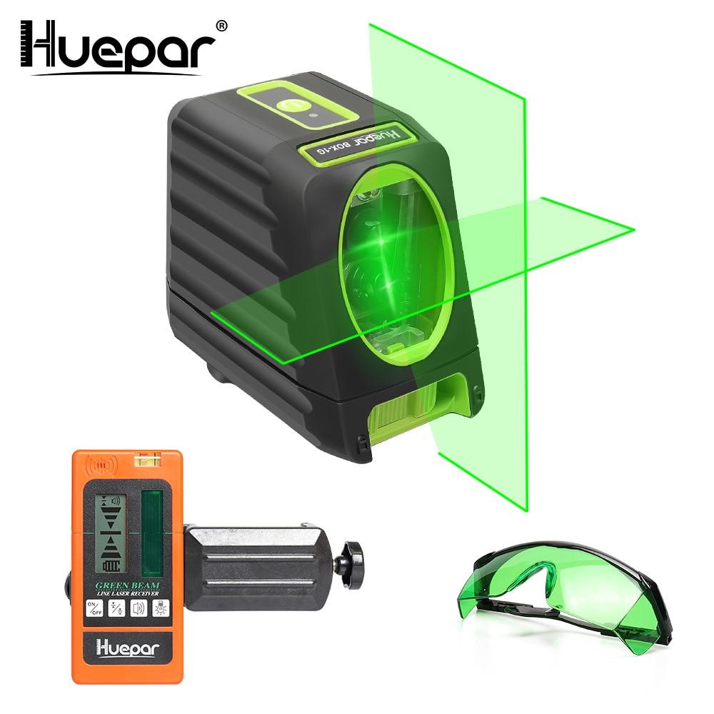 Huepar Self leveling Green Beam Cross Line Laser Level Huepar Digital LCD Laser Receiver Huepar Safety