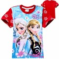 children girls t-shirt tops and blouse girl baby tshirt anna shirt elsa shirts elza tee jurk costume for kids clothes clothing
