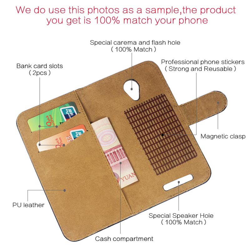 6 Colors Super!! Jinga Basco L500 Case Flip Fashion Customize Leather Exclusive Protective 100% Special Phone Cover+Tracking