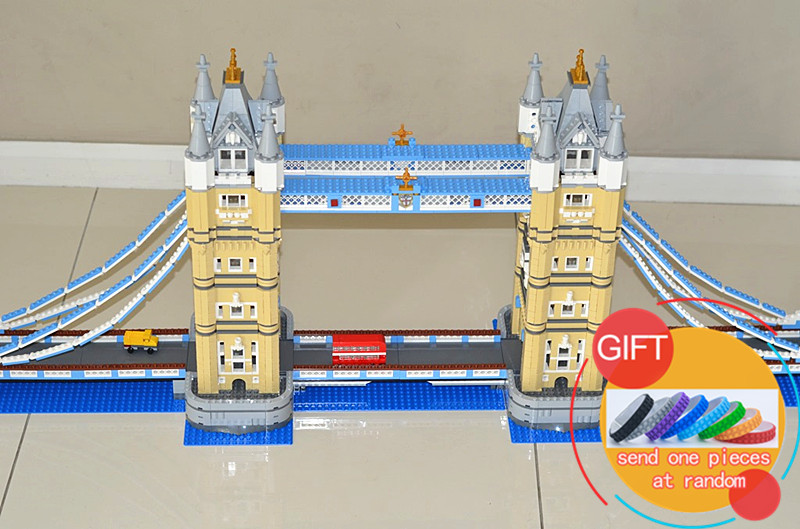 17004 4295pcs London bridge set Compatible with 10214 Model Building Blocks Kits Brick DIY Toys Gifts lepin in stock new lepin 17004 city street series london bridge model building kits assembling brick toys compatible 10214