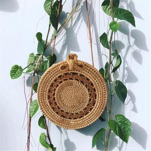 Image 4 - Rattan Storage Bag Handmade Bohemian Retro Style Home Woven Bag Hollow Twist Pattern Fashion Womens Pouch 2019