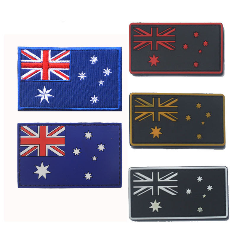 Australia Ozzy Flag Embroidered Sew//Iron On Patch Patches