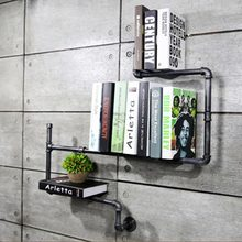 DIY Vintage Home Decor Creative Bookshelves Metal Storage Rack Decorative Wall Book Shelf Bookcase for Study/Living Room CH0221