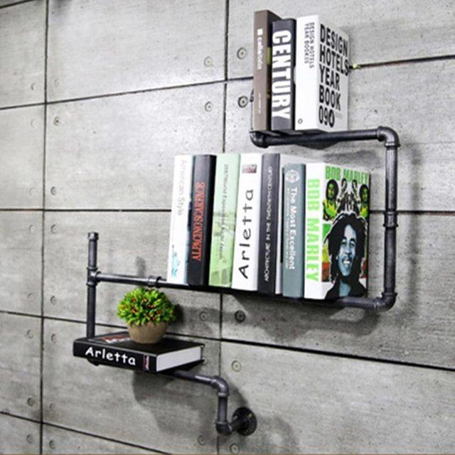 Book rack wall diy decor