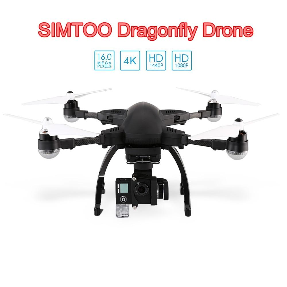 Simtoo Dragonfly Drone Pro RTF WiFi FPV 16MP Camera Aircraft 4K HD 2.4GHz 8CH Wireless / Voice Control GPS Glonass Quadcopter gps навигатор lexand sa5 hd