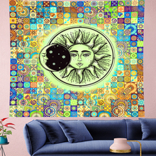 Indian Mandala Sun Witch Tapestry Wall Hanging Psychedel macrame flower Throw Rug yoga Blanket Tent Travel Mattress bohemia wall