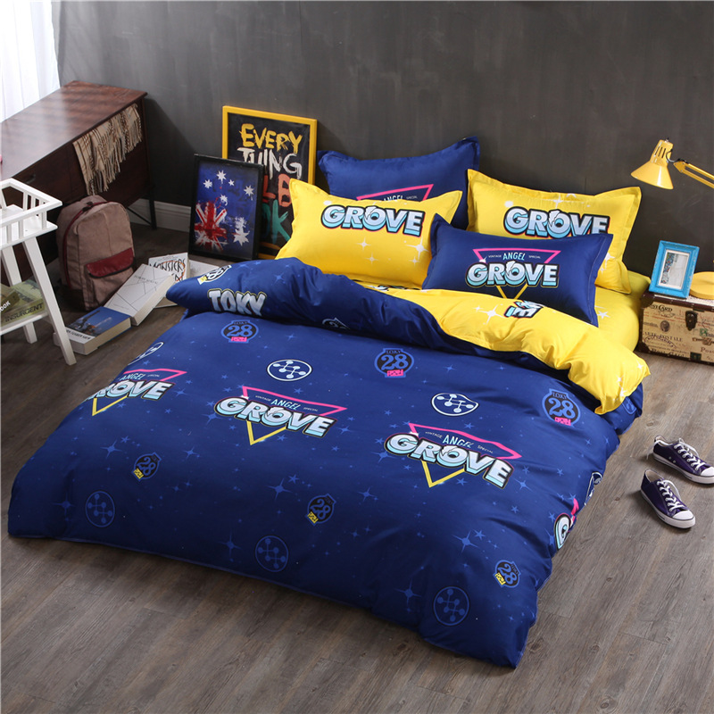 Bedding Set Duvet Cover Pillowcase Bed Sheet Soft Comfortable Kids Cartoon Printed Pattern Bed Cover Home Textile Bedroom 3/4PCS