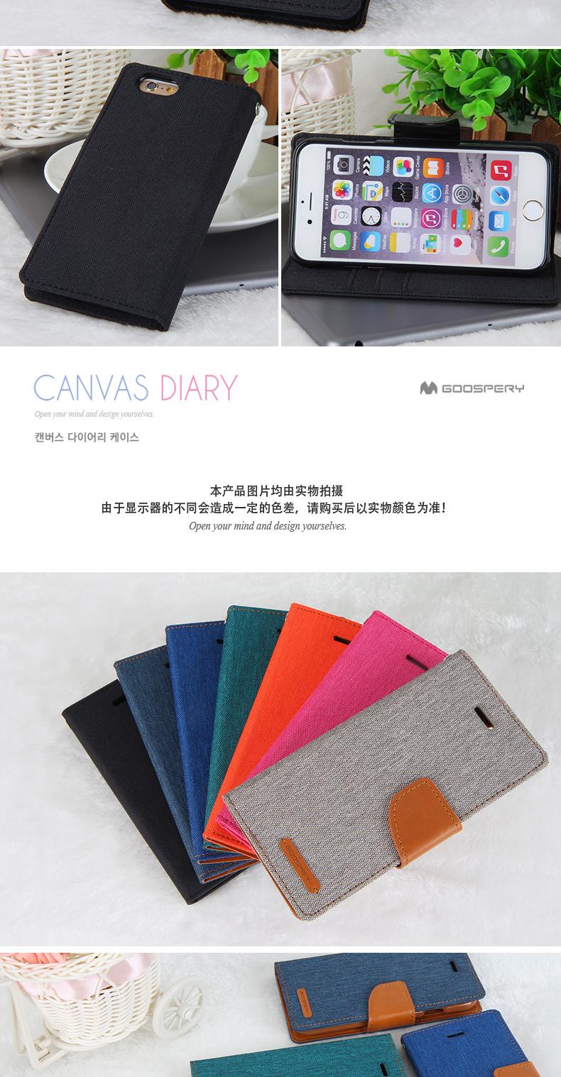Buy Mercury Goospery Canvas Diary Flip Wallet Samsung Galaxy J3 2016 Case Navy Product Description