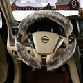2015 New Winter Fashion Leopard Car Steering Wheel Cover To A Comfortable Warm Winter Plush Velvet Milk Wheel Cover Free Shippin
