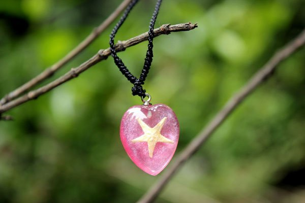Charm Pink Starfish Amber Jewelry Pendant Valentine Gift for Her Jewelry Wholesale 50pcs Mixed Lot Free Shipping