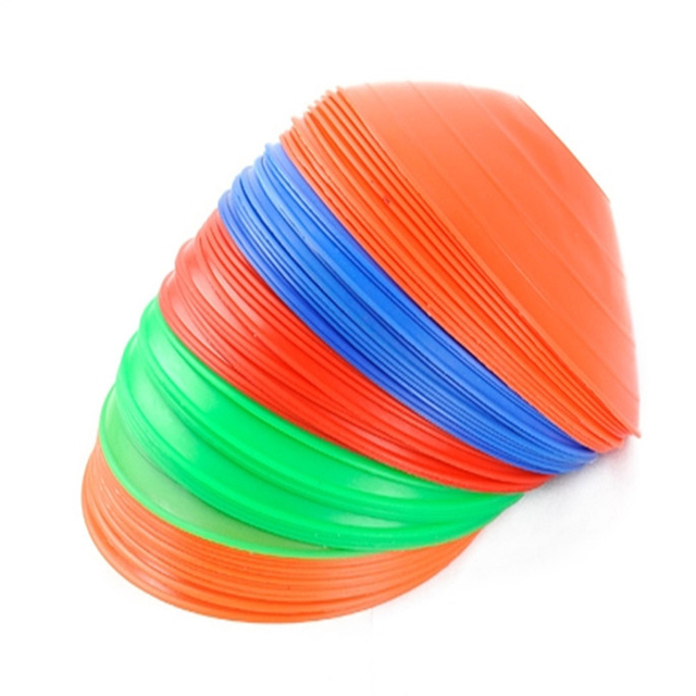 10 Pcs/lot Outdoor Sport Football Soccer Rugby Speed Training Disc Cone Track Space Marker Inline Skating Cross Speed Training