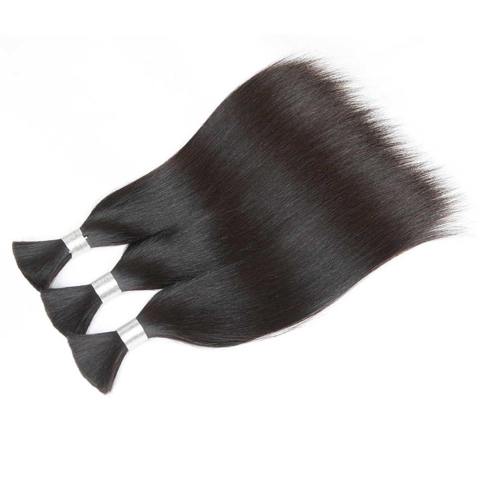 Rebecca Human Braiding Hair Bulk Remy Brazilian Straight Hair 3 Bundles For Braiding For Braiding 10  30 Inch Hair Free Shipping-in Salon Bundle Hair from Hair Extensions & Wigs    3