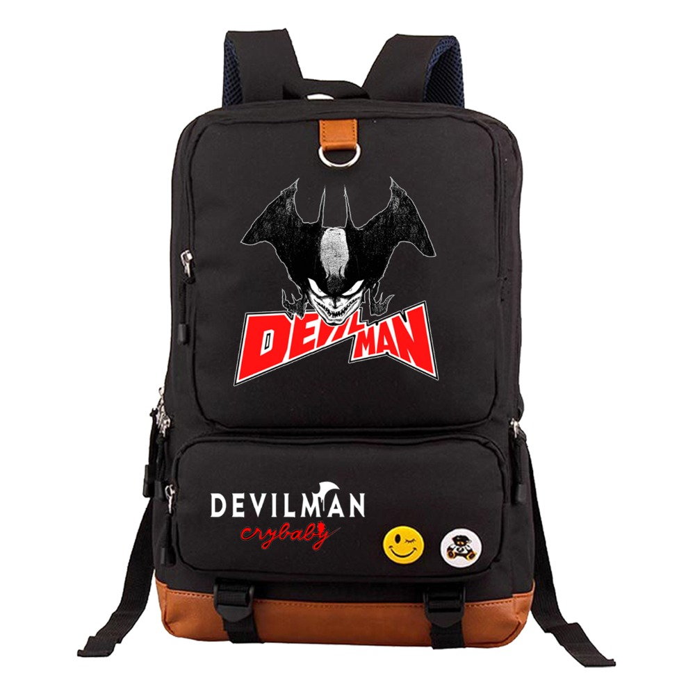 anime DEVILMAN crybaby Backpack Student School Bags book bag teenagers travel Shoulder Laptop Bag Unisex Travel Knapsack zelda laptop backpack bags cosplay link hyrule anime casual backpack teenagers men women s student school bags travel bag page 2