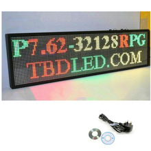 77X30cm 32*96 indoor Store 3color LED Display board Scrolling text Red Green Yellow LED open sign billboard