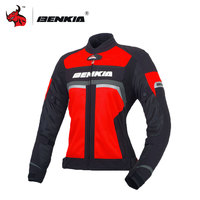 BENKIA Motorcycle Jacket Women's Motorcycle Racing Jackets Moto Clothing Racing Street Cruiser Biker Motorbike Jacket Armor