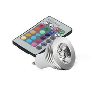 AC85-265V  3W GU10 RGB LED Bulb Lamp Spotlight + Remote Control