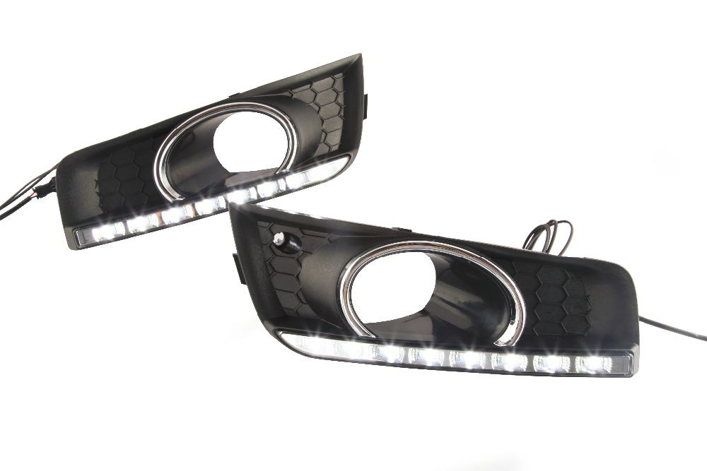 ФОТО LED DRL Daytime Running Lights for chevrolet cruze 2011 - 2013 with fog lamp hole