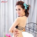 2016 Women's Fashion Halter-neck Type Front Closure Bra for Women Plunge Brassiere with Charming Back Straps