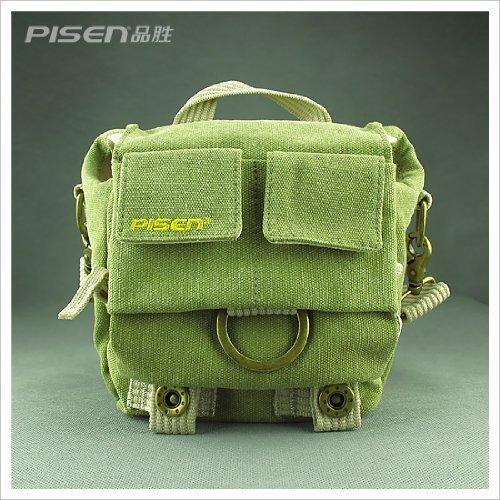 Green Shoulder Canvas Camera Bag/deluxe Photo/video Camera Gadget Bag for Canon Nikon Sony Panasonic Fuji Digital Cameras