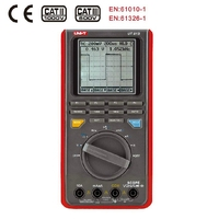 UNI T UT81B Handheld Oscilloscope Digital Multimeter 4000 Counts AC DC Voltmeter LCD Scopemeter 8MHz 40MS/s USB Interface tester
