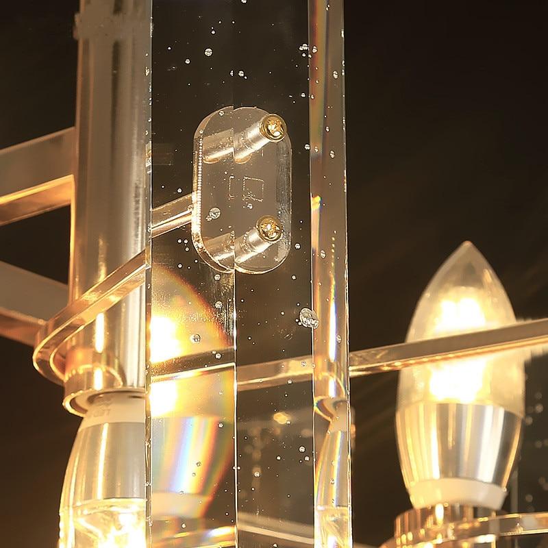 LED pendant lights crystal living room suspended lamp loft luminaires Nordic dining room lighting fixtures home hanging lights in Pendant Lights from Lights Lighting