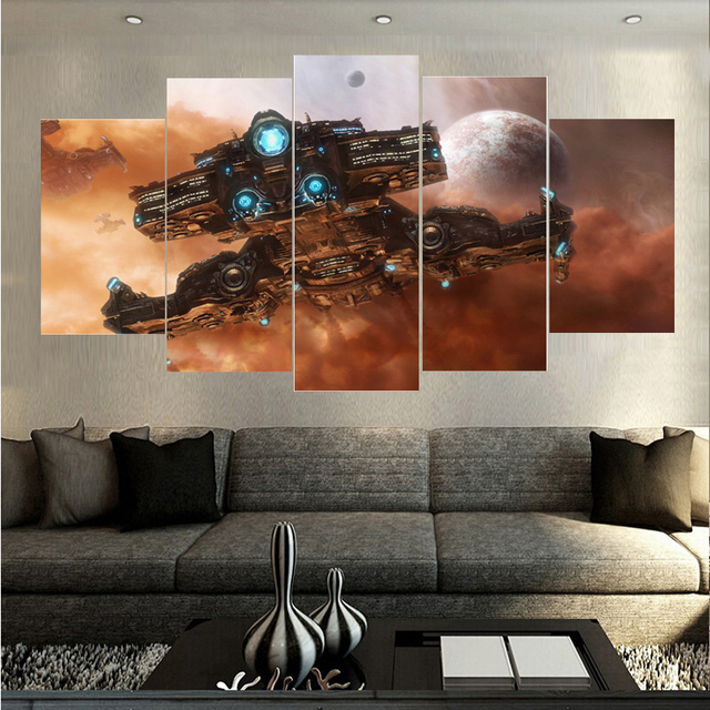 best price spaceship landscape oil painting on canvas modern home